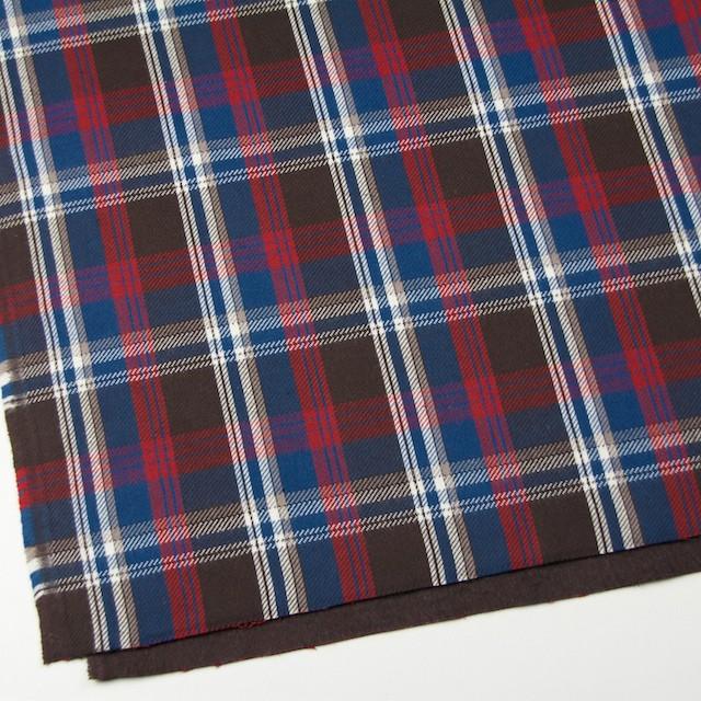 コットン×チェック(ブラウン&レッド、ブルー)×フランネル イメージ2