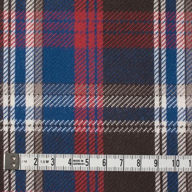 コットン×チェック(ブラウン&レッド、ブルー)×フランネル イメージ4