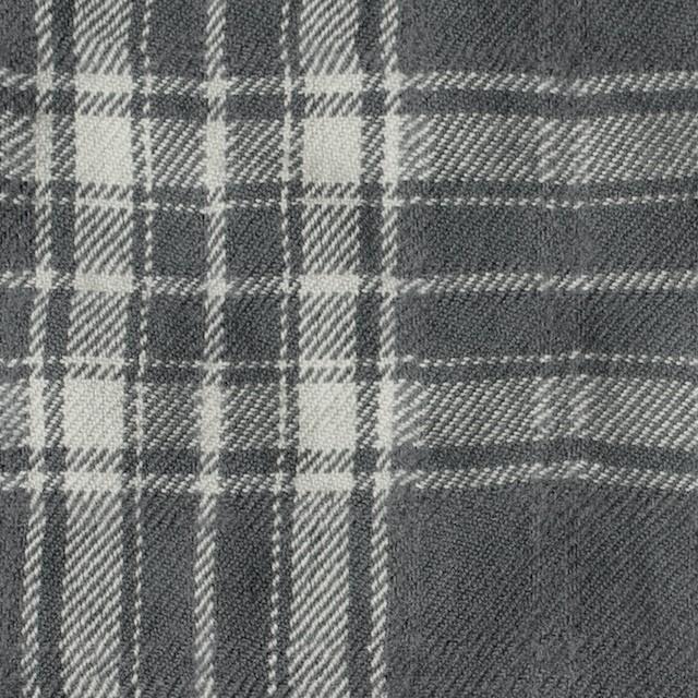 コットン&ウール×チェック(グレー)×ビエラワッシャー_全2色 イメージ1