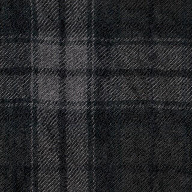 コットン&ウール×チェック(ブラック)×ビエラワッシャー_全2色 イメージ1