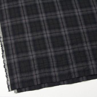 コットン&ウール×チェック(ブラック)×ビエラワッシャー_全2色 サムネイル2