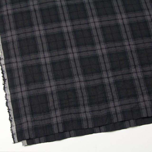 コットン&ウール×チェック(ブラック)×ビエラワッシャー_全2色 イメージ2