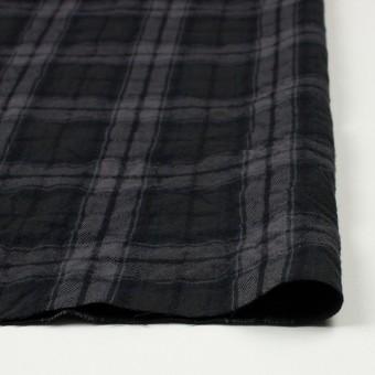 コットン&ウール×チェック(ブラック)×ビエラワッシャー_全2色 サムネイル3