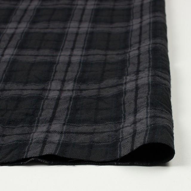 コットン&ウール×チェック(ブラック)×ビエラワッシャー_全2色 イメージ3