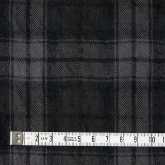 コットン&ウール×チェック(ブラック)×ビエラワッシャー_全2色 サムネイル4