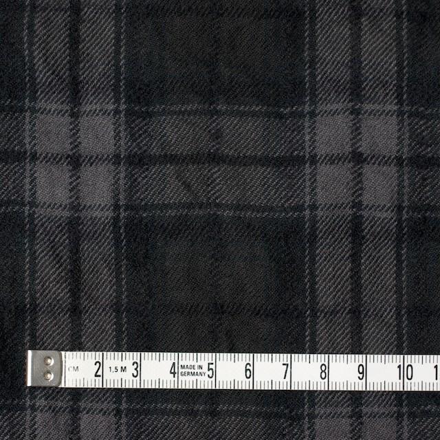 コットン&ウール×チェック(ブラック)×ビエラワッシャー_全2色 イメージ4