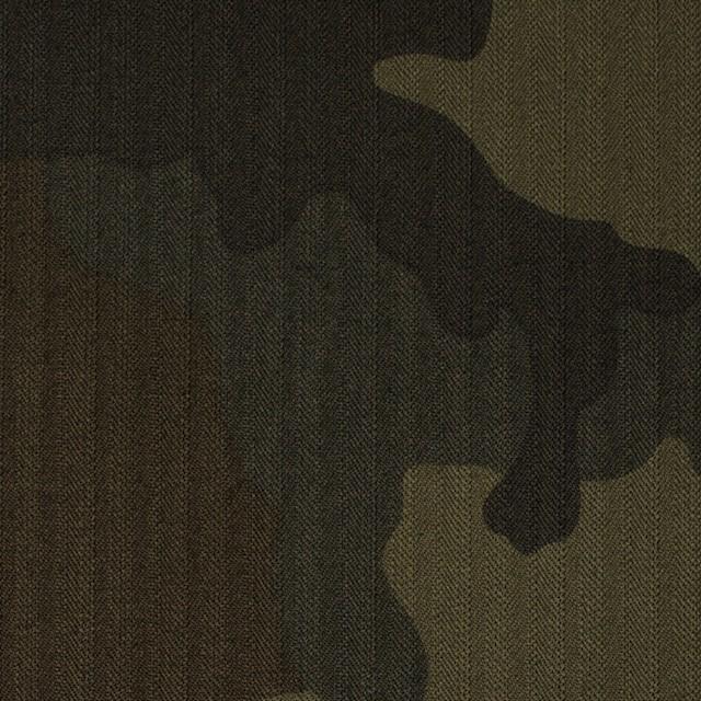 コットン×迷彩(カーキミックス)×ヘリンボーン イメージ1