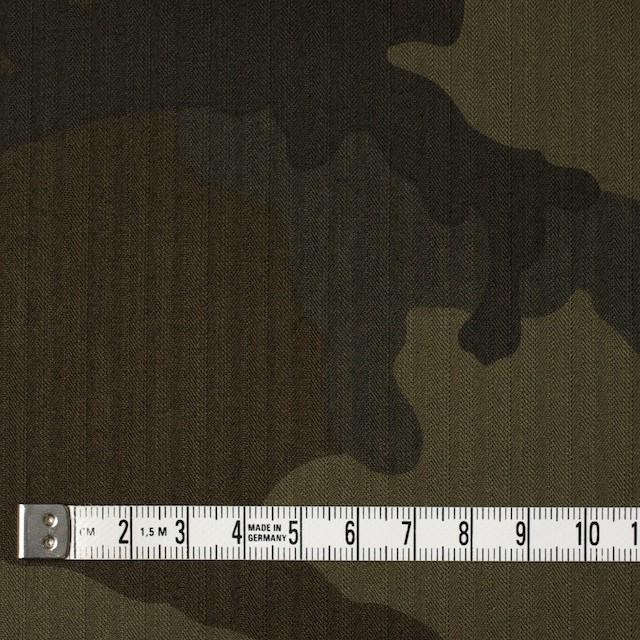 コットン×迷彩(カーキミックス)×ヘリンボーン イメージ4