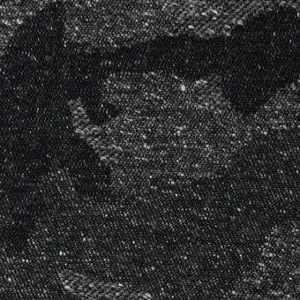 コットン&アクリル混×迷彩(チャコールグレー)×ジャガード_全5色 サムネイル1