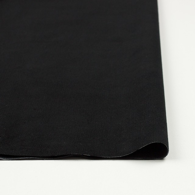 コットン&ポリエステル×無地(ブラック)×ベッチン_全5色 イメージ3