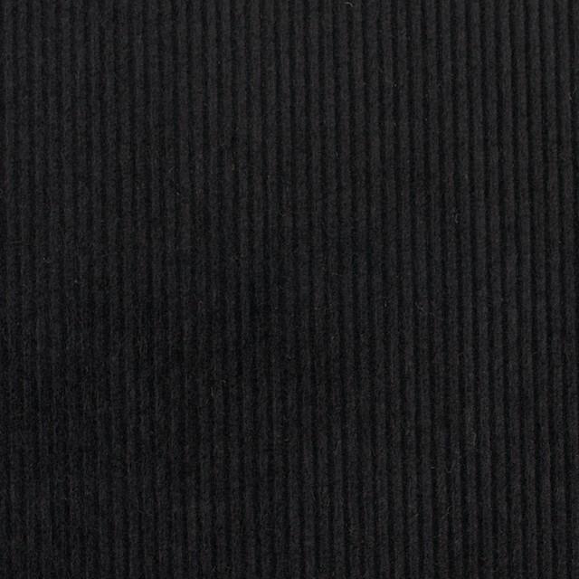コットン&ポリウレタン×無地(ブラック)×中細コーデュロイ・ストレッチ_全2色 イメージ1