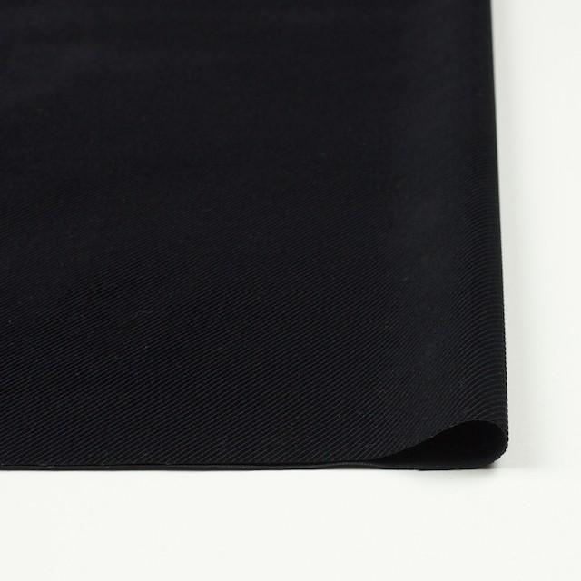 ポリエステル&コットン×無地(ブラック)×バイアスコーデュロイ イメージ3