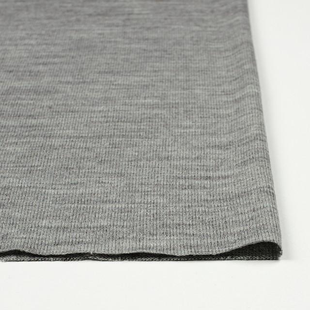 アクリル&ウール混×無地(グレー)×天竺ニット_全4色 イメージ3