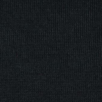 アクリル&ウール混×無地(ブラック)×天竺ニット_全4色 サムネイル1