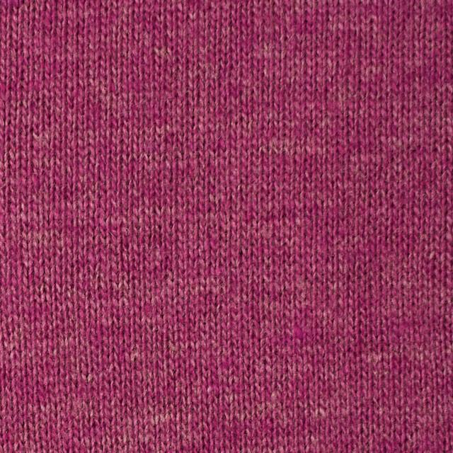 ウール&アクリル×無地(チェリーピンク)×天竺ニット_全5色 イメージ1
