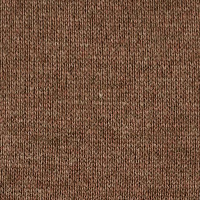 ウール&アクリル×無地(モカブラウン)×天竺ニット_全5色 イメージ1