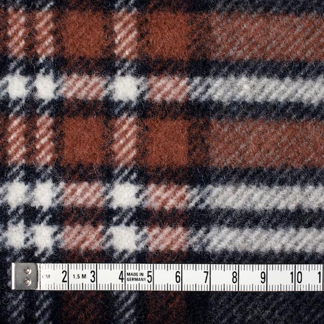 ウール&ポリエステル×チェック(レッドブリック、ブラック&グレー)×厚カルゼ イメージ4