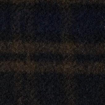 ウール&ポリエステル×チェック(ブラウン、ブラック&グレー)×モッサー サムネイル1
