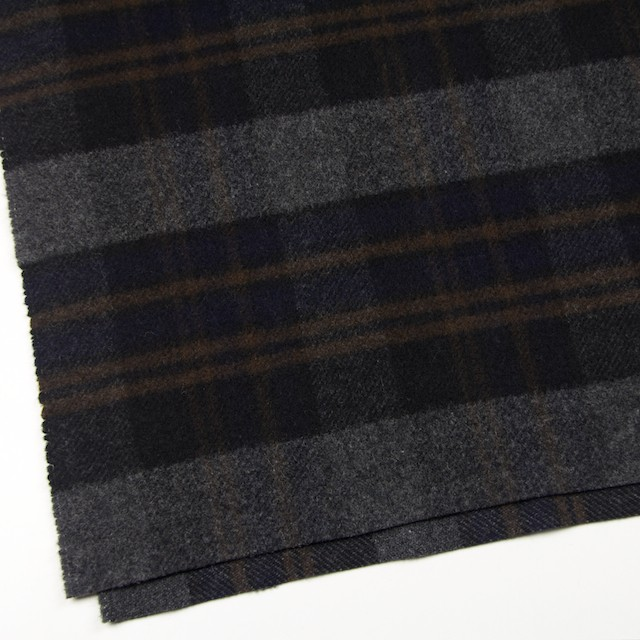 ウール&ポリエステル×チェック(ブラウン、ブラック&グレー)×モッサー イメージ2