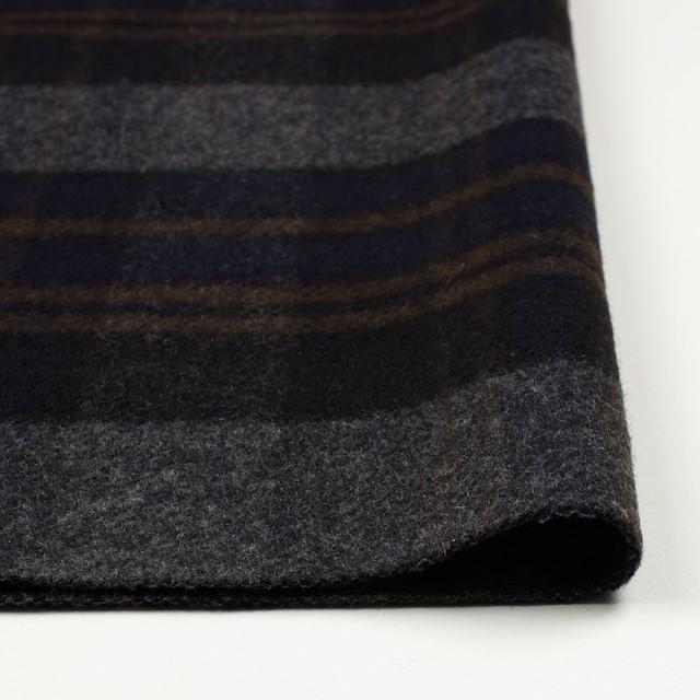 ウール&ポリエステル×チェック(ブラウン、ブラック&グレー)×モッサー イメージ3