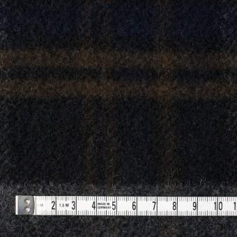 ウール&ポリエステル×チェック(ブラウン、ブラック&グレー)×モッサー サムネイル4
