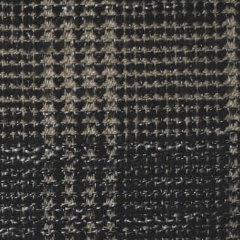 ウール×チェック(ベージュ&ブラック)×ツイード サムネイル1