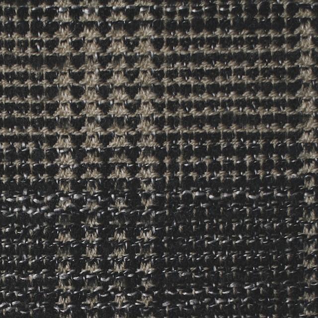 ウール×チェック(ベージュ&ブラック)×ツイード イメージ1
