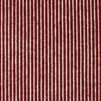 コットン&ウール×ストライプ(レッド)×コードレーン サムネイル1