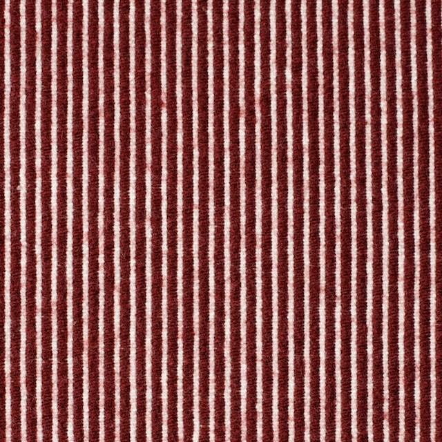 コットン&ウール×ストライプ(レッド)×コードレーン イメージ1