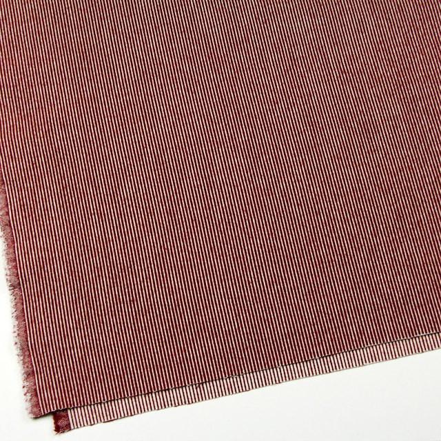 コットン&ウール×ストライプ(レッド)×コードレーン イメージ2