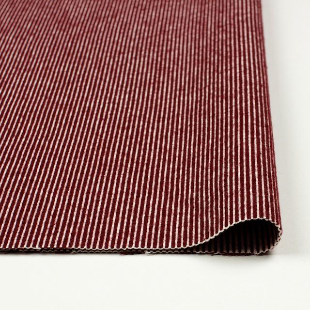 コットン&ウール×ストライプ(レッド)×コードレーン イメージ3