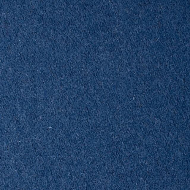 ウール×無地(ブルー)×フラノ(フランネル) イメージ1