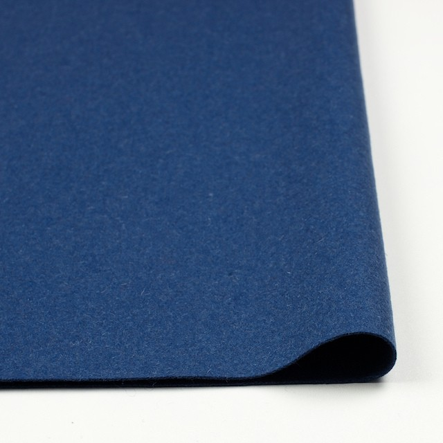 ウール×無地(ブルー)×フラノ(フランネル) イメージ3