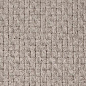ウール×無地(ベージュグレー)×斜子織 サムネイル1