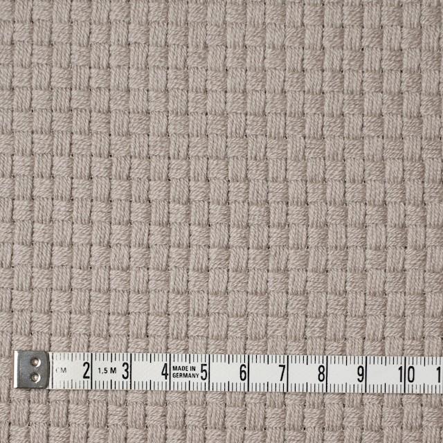ウール×無地(ベージュグレー)×斜子織 イメージ4