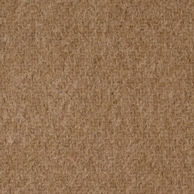 ウール×無地(カーキベージュ)×二重織 イメージ1