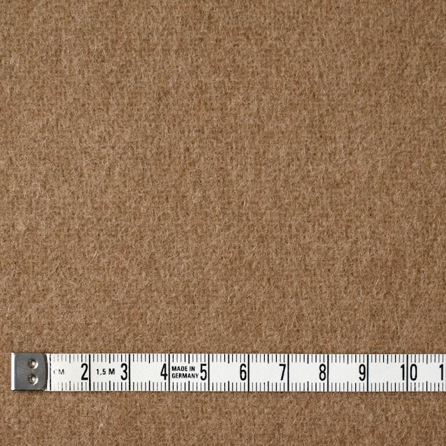 ウール×無地(カーキベージュ)×二重織 イメージ4