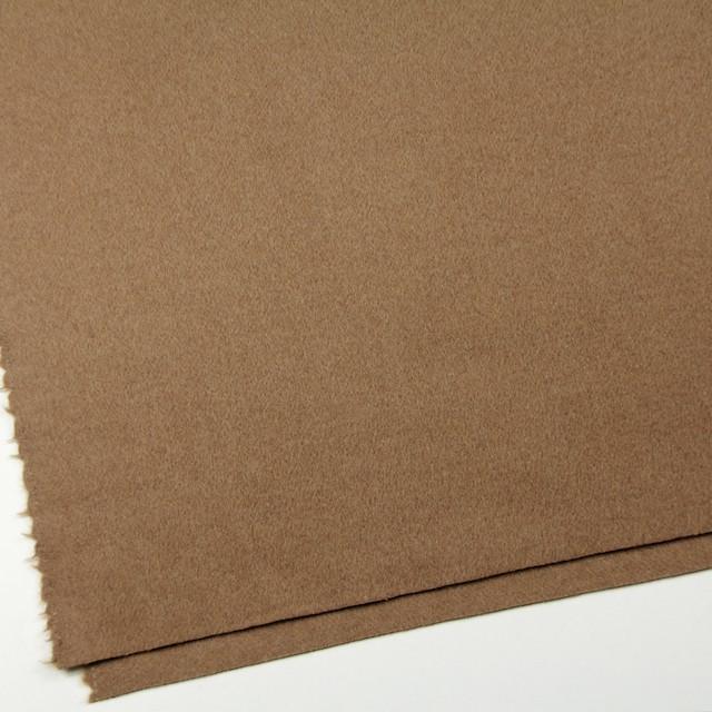 ウール&ナイロン×無地(カーキベージュ)×二重織ビーバー イメージ2