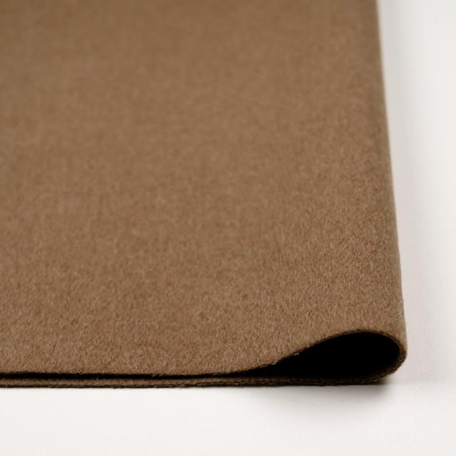 ウール&ナイロン×無地(カーキベージュ)×二重織ビーバー イメージ3