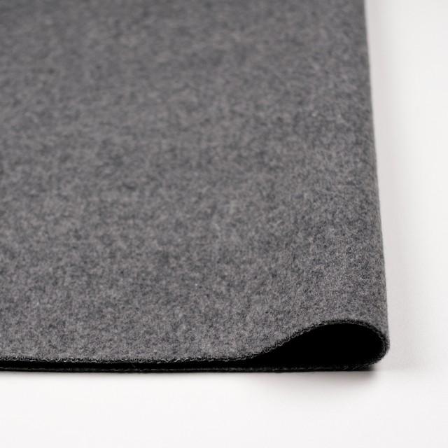 ウール×無地(グレー)×二重織 イメージ3