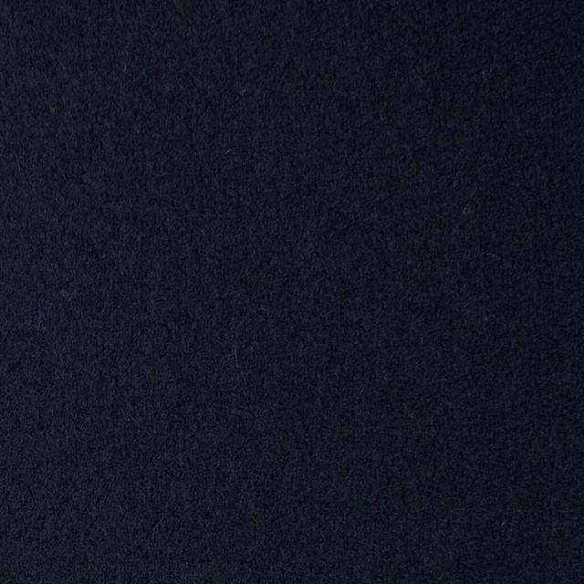 ウール×無地(ネイビー)×フラノ(フランネル) イメージ1