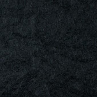 ウール×無地(ブラック)×ビーバーワッシャー
