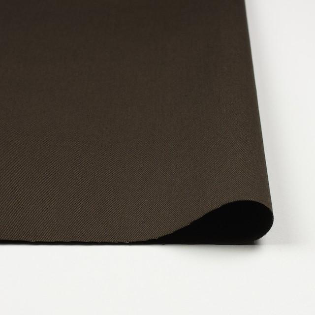 コットン&ポリウレタン×無地(カーキブラウン)×チノクロス・ストレッチ イメージ3
