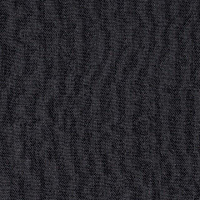 コットン×無地(チャコール)×Wガーゼ イメージ1