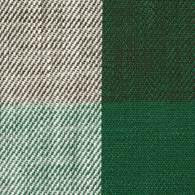 コットン×チェック(グリーン&ブラウン)×ビエラ イメージ1