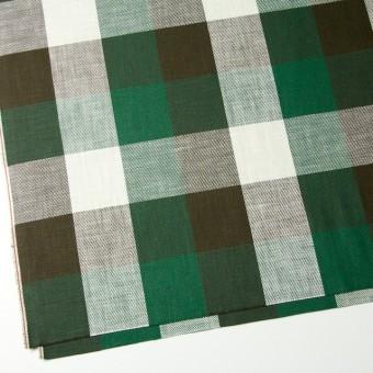 コットン×チェック(グリーン&ブラウン)×ビエラ サムネイル2