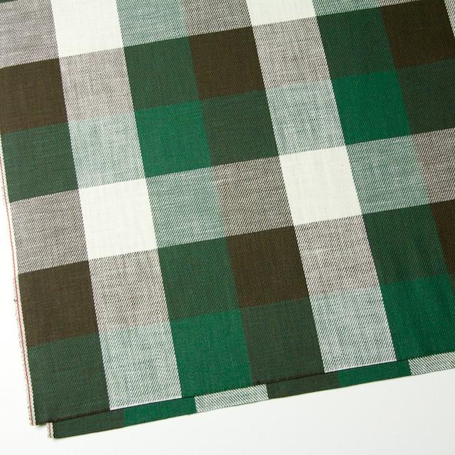 コットン×チェック(グリーン&ブラウン)×ビエラ イメージ2
