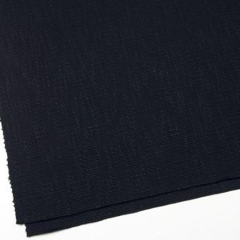 コットン&リネン×無地(ネイビーブラック)×ホップサック(斜子織) サムネイル2