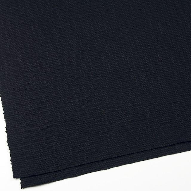 コットン&リネン×無地(ネイビーブラック)×ホップサック(斜子織) イメージ2