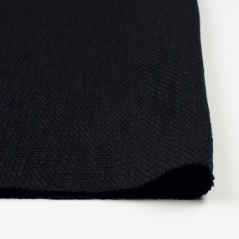 コットン&リネン×無地(ネイビーブラック)×ホップサック(斜子織) サムネイル3